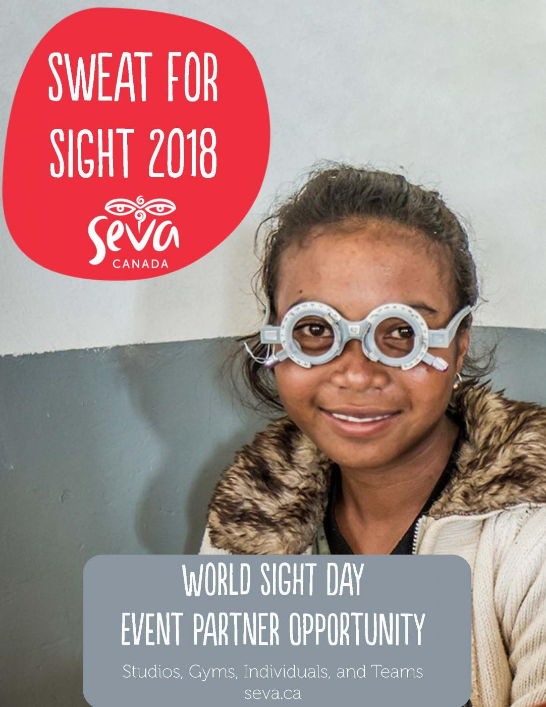 2018 Sweat for Sight Information Package Cover Image
