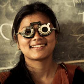 Nepali Girl Refractive Test